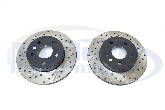 StopTech Drilled & Slotted Rotors (Rear Pair), 05-07 Cobalt SS