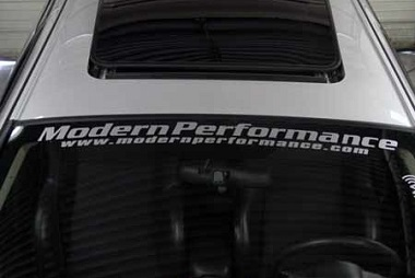 Modern Performance Windshield Banner / Sticker