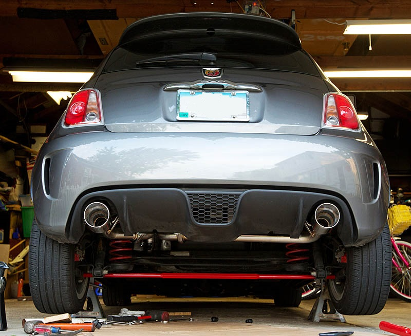 mpx rear section exhaust 12 fiat 500 abarth exhaust. Black Bedroom Furniture Sets. Home Design Ideas