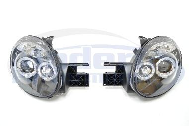Version 1 LED Halo Projector Headlights, 03-05 Neon SRT-4 on